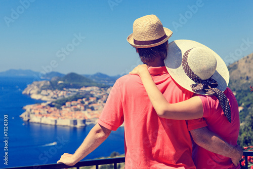 Fotografia  happy couple on vacation in Europe