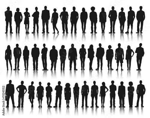 Fototapeta Silhouette Group of People Standing obraz