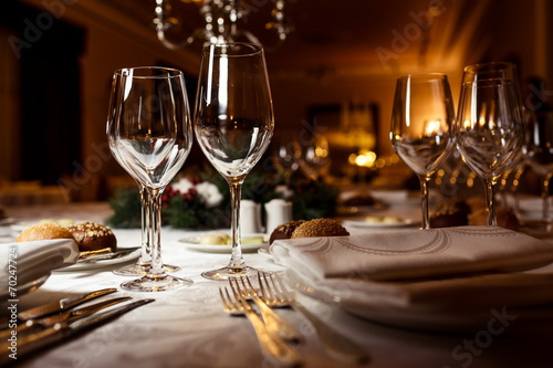 Table setting for celebration Wallpaper Mural