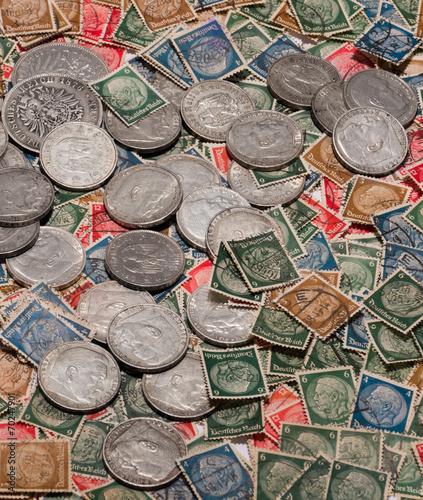 Alte Deutsche Münzen U Briefmarken Kaufen Sie Dieses Foto Und