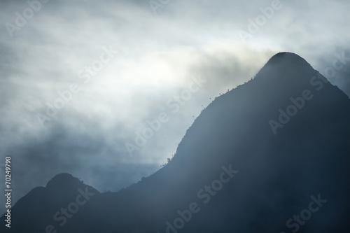 Printed kitchen splashbacks Purple Mountain Mist