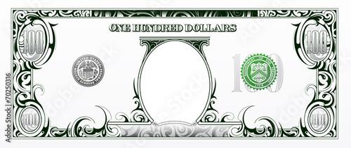 Fotografía  100 dollars bill. Cartoon money
