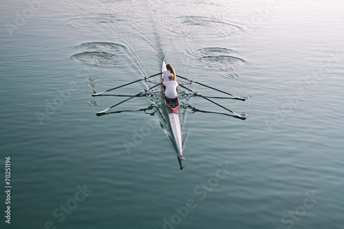 Fotografie, Obraz  Rowing on the lake