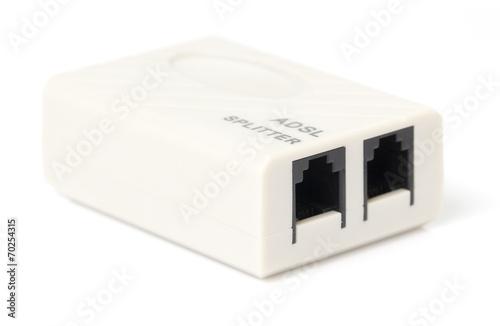 Photo ADSL Splitter Signal box