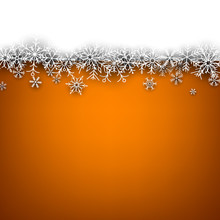 Christmas Orange Abstract Background.