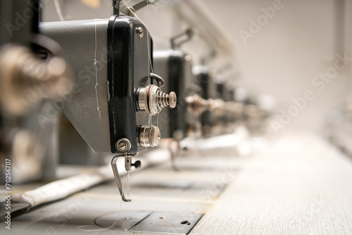 Photo Stands Old abandoned buildings Abandoned textile factory - sewing machines