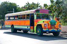 Brightly Painted School Bus
