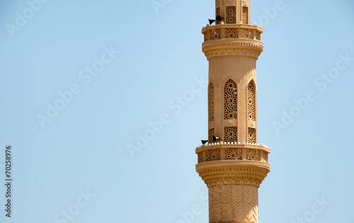 Leinwand Poster Architectural Detail of Minaret of El Mina Mosque