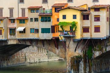 Fototapeta na wymiar Ponte Vecchio over Arno river in Florence