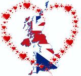 Fototapeta Londyn - GB i serce z serc