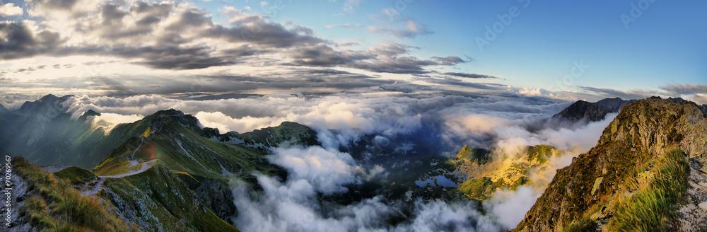 Fototapety, obrazy: Panorama of the surrounding area Swinica, Tatra Mountains