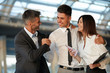 Business People Celebrate successful project. Team Work