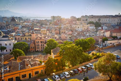 Panorama view of Cagliari, Sardinia, Italy, Europe