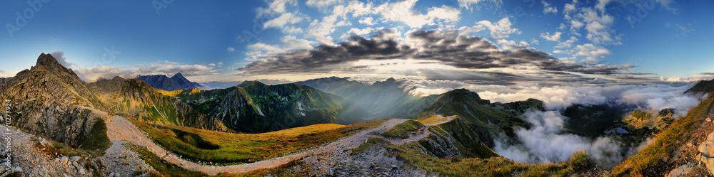 Fototapety, obrazy: Piękna panorama Świnicy