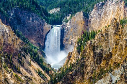 Poster Parc Naturel Landscape view at Grand canyon of Yellowstone, USA