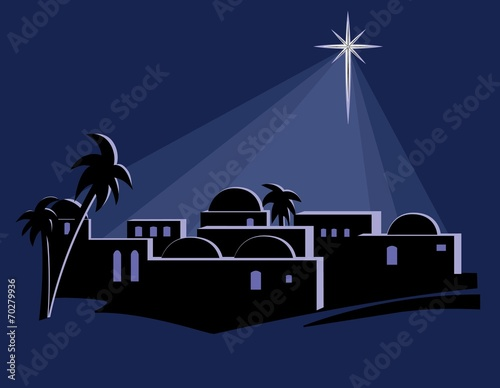 Star Over Bethlehem Wallpaper Mural