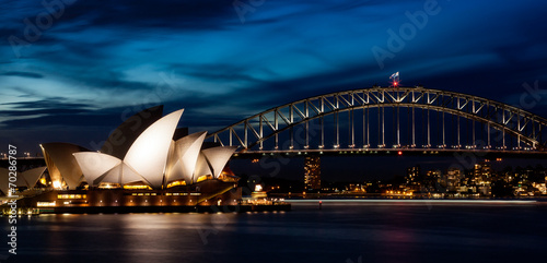 Photo sur Toile Australie Harbor Bridge Skyline II
