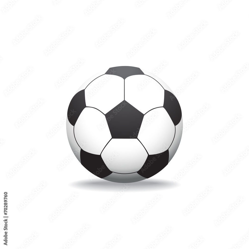 Valokuva soccer ball on white background