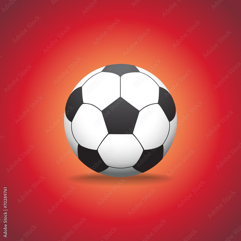 Photo  soccer ball on a gras