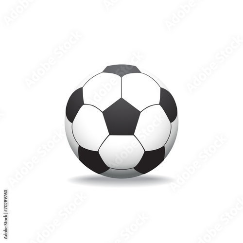 soccer ball on white background Canvas Print