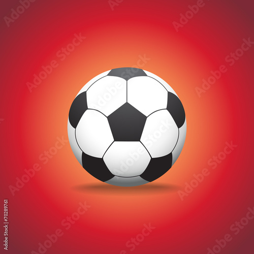 Photo  soccer ball on a gras