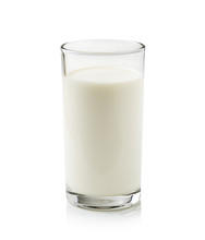 Glass Of Milk Isolated On Whit...