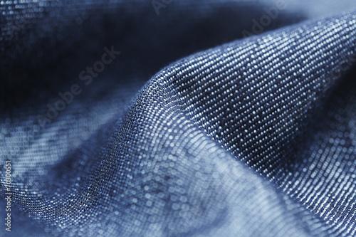 Close up of denim material. Canvas Print