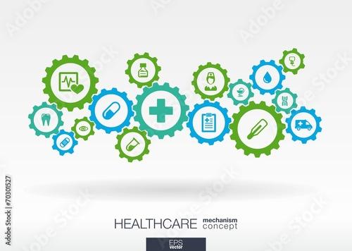 Fotografia  Healthcare mechanism concept