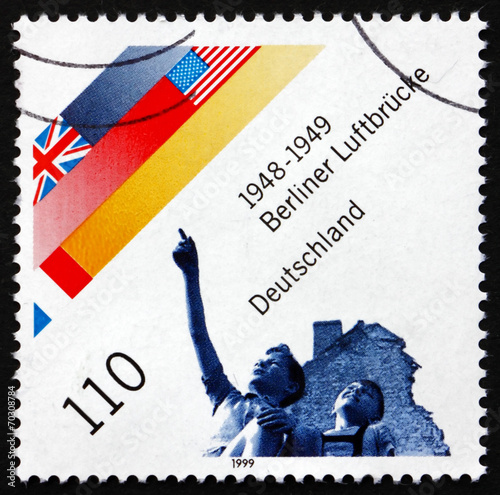 Postage stamp Germany 1999 Berlin Airlift, Cold War Wallpaper Mural