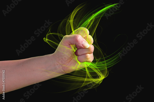 a fist of light