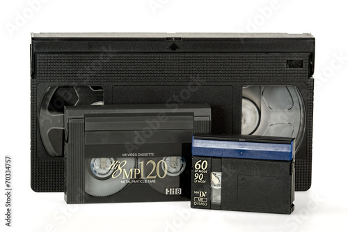 Fotografering  Old video tape formats