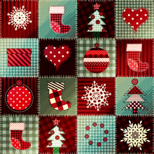 Cozy Christmas Pattern In Patc...