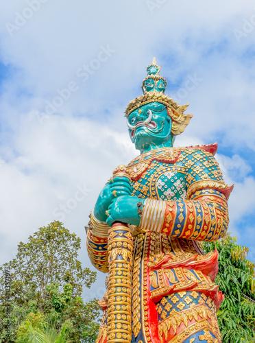 Fotografía  Giant statue in Thai temple,Public statue in thailand