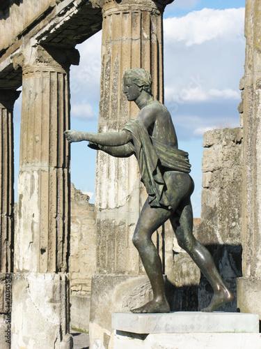 Garden Poster Napels excavations of Pompeii apollo statue in ancient roman city
