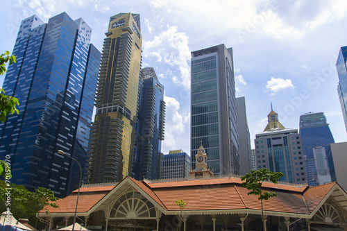 Photo  Singapore Skyscrapers