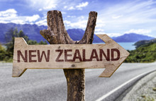 New Zealand Wooden Sign With L...