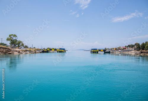 Fotografie, Obraz  Ausfahrt aus dem Kanal von Korinth