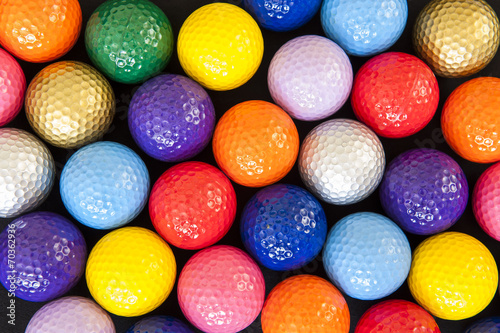 Wall Murals Golf Colorful Golf Balls