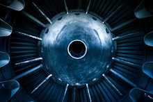 Closeup Of A Jet Engine