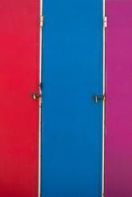 Vintage Three Surfers Colorful...