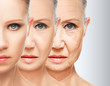 Leinwandbild Motiv beauty concept skin aging. anti-aging procedures