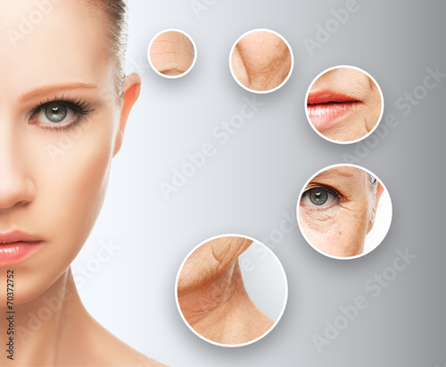 Fotografía  beauty concept skin aging. anti-aging procedures,