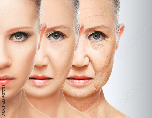 Fotografía  beauty concept skin aging. anti-aging procedures