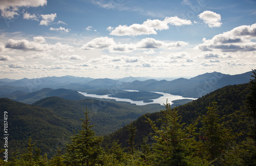 Valokuva  Adirondack mountains forests and lakes landscape