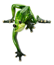 Statue Of Green Frog On The Wh...