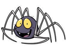 Vector Illustration Of Spider ...