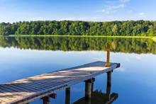 Jetty On The Masurian Lake In ...