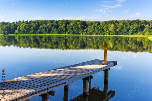 Jetty on the masurian lake in Poland