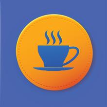 Coffee Button,vector