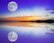 canvas print picture - moon reflection